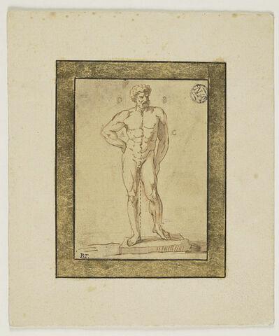 Un homme debout sur sa jambe droite