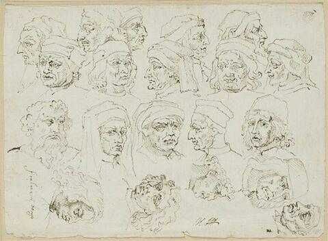 Vingt têtes d'artistes italiens de la Renaissance