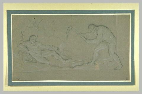 Hercule nettoyant les écuries d'Augias