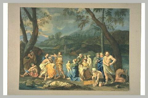 Saint Jean baptistant le peuple