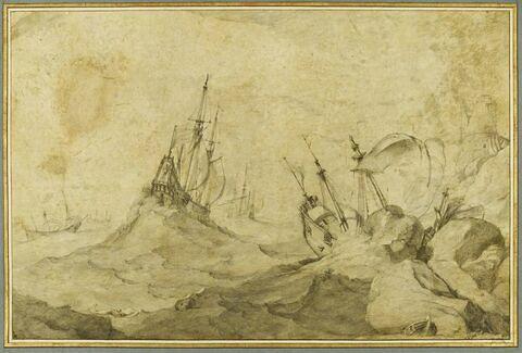 Une grande tempête sur la mer