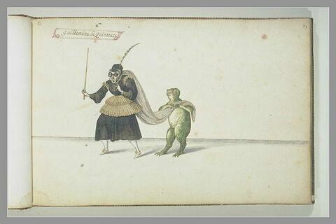 'Guillemine la Quinteuse' et une grenouille