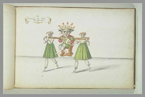Entrée du 'Roi Atabalipa' : trois figures