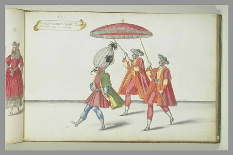 Seconde entrée du 'Grand Seigneur' : trois figures