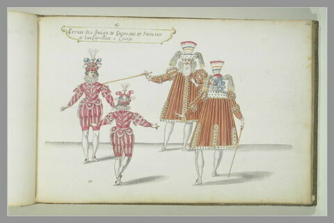 Entrée des Baillifs de Groinland et Fridland, quatre figures