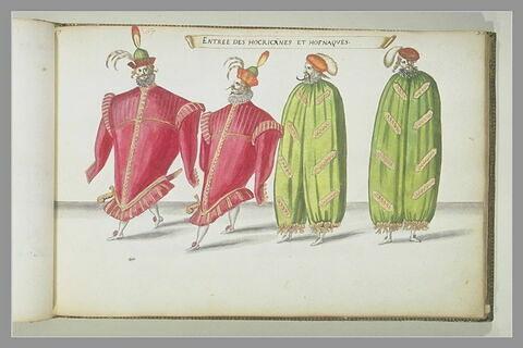 Entrée des Hocricanes et Hofnaques, quatre figures