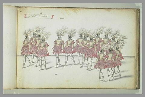 Le grand Ballet, seize figures d'hommes