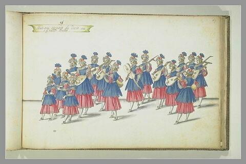 Musique servant de récit au Grand Ballet, dix-sept figures