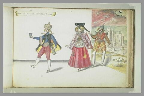 Entrée de l'Hôte, de l'Hôtesse, trois figures