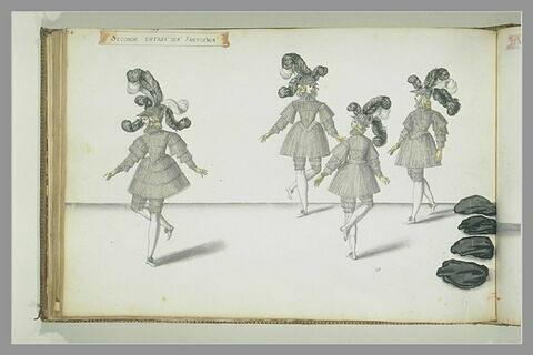 Seconde entrée des fantômes, quatre figures