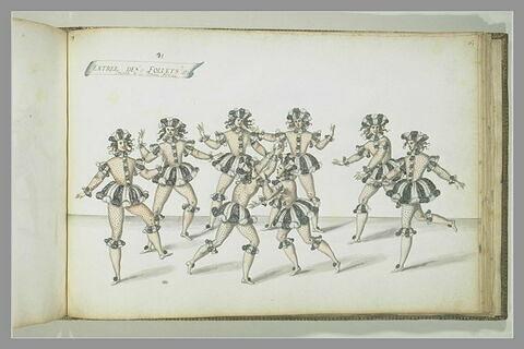 Entrée des follets jouant à la balle, huit figures