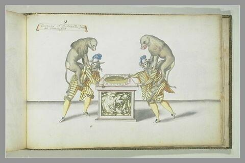 Laquais et Bertrands jouant au tourniquet