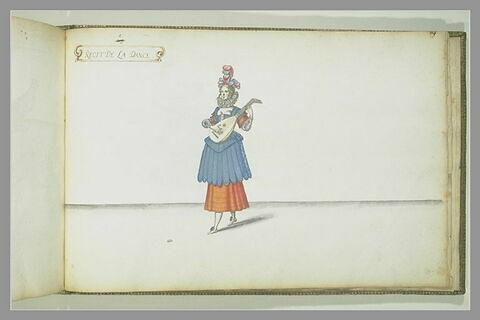 Récit de la danse, femme jouant du luth