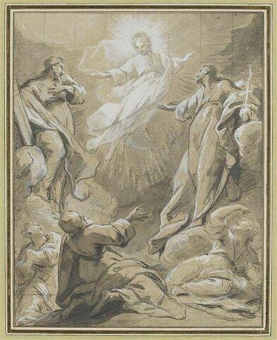 Apparition de Jésus-Christ à divers apôtres et saintes