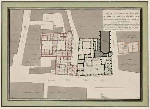 Plan général du palais du conseil souverain d'Alsace à Colmar