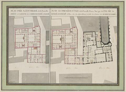 Plans du conseil d'Alsace, de la prison, d'une caserne à Colmar