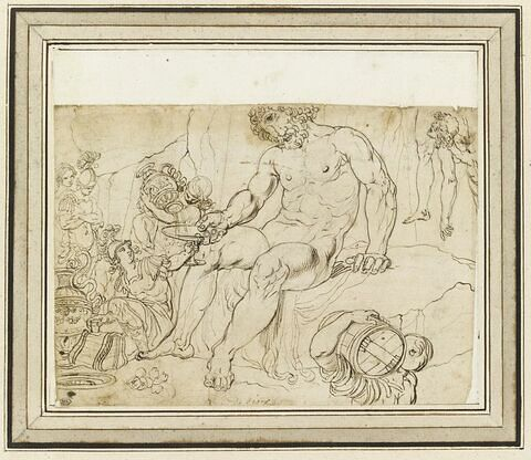Ulysse offrant au cyclope Polyphème le vin de Maron