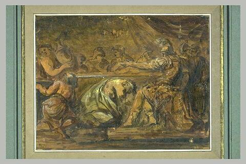 Le roi Priam demandant à Achille de lui rendre le corps d'Hector