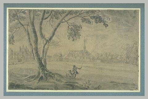 Paysage avec une abbaye