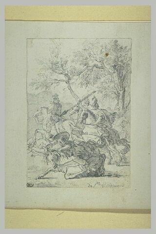 Combat de quatre cavaliers