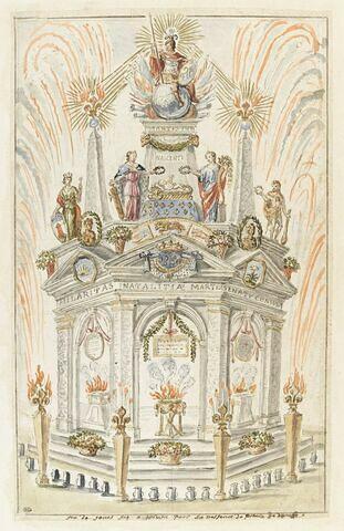 Arc de triomphe célébrant la naissance du prince de Dombes