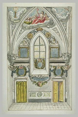 Architecture et ornement d'une voûte d'église