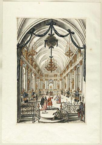 Vue de l'intérieur d'une salle contenant des tombeaux de rois
