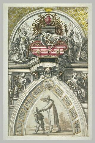 Projet pour le tombeau d'un pape