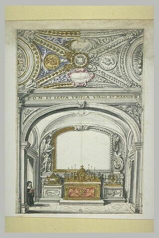 Projet pour une chapelle dédiée à Sainte Ursule