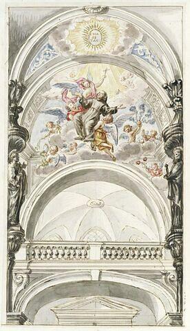 Projet pour une chapelle, avec l'Apothéose de saint Dominique