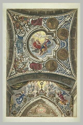 La Tradition des clefs à saint Pierre, étude pour le plafond d'une chapelle