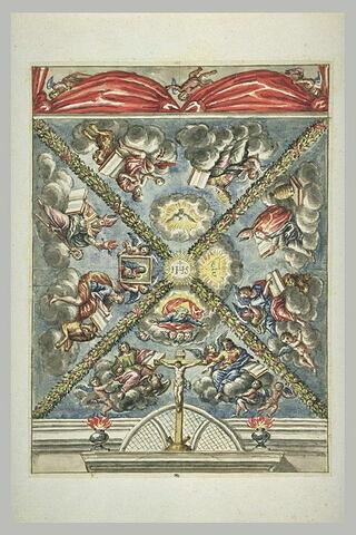 Etude pour un plafond avec les quatre évangélistes