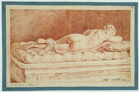 L'Hermaphrodite couché sur le ventre, d'après l'antique