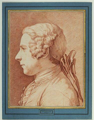 Portrait du peintre Trémolières, vu de profil