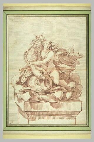 Arion, jouant de la cythare, sauvé par un dauphin