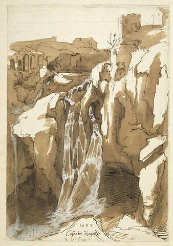 Vue de la cascade de Tivoli