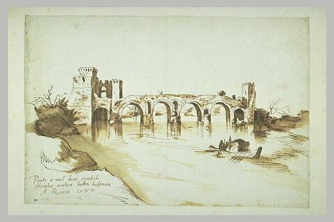 Vue du pont Sublicius de Rome