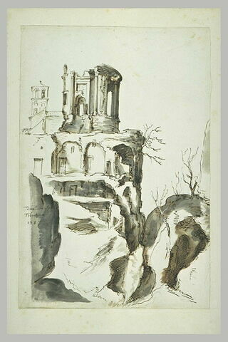 Vue des ruines du temple de la Sibylle Tiburtine à Tivoli