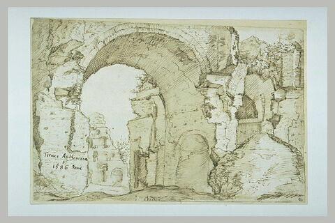 Vue des thermes d'Antonin à Rome