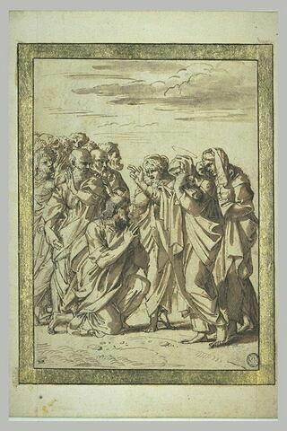Les adieux du Christ à sa mère devant les apôtres