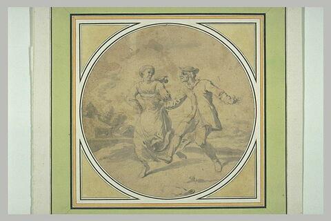 Un homme et une femme dansant