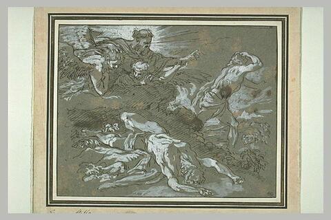 Dieu reprochant à Caïn le meurtre de son frère Abel