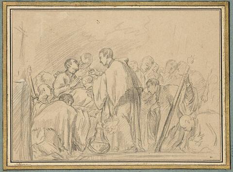 Saint Louis de Gonzague recevant la communion au moment de sa mort