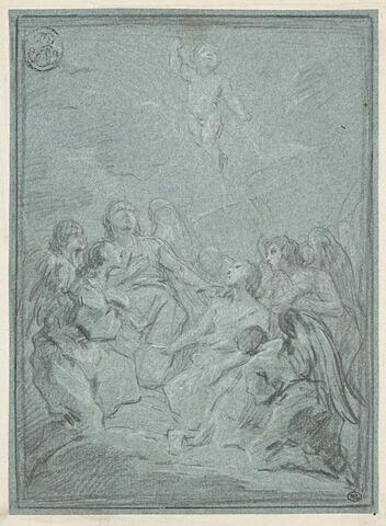 Sept anges adorant l'Enfant