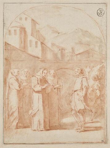 Saint Bruno reçoit un message du pape Urbain II : copie du quinzième tableau