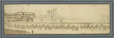 La Marche triomphale du carrousel de 1662, arrivée des quadrilles dans la lice