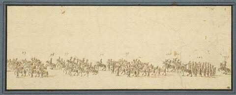 La Marche triomphale du Carrousel de 1662, cortège de la quadrille du duc d'Enghien