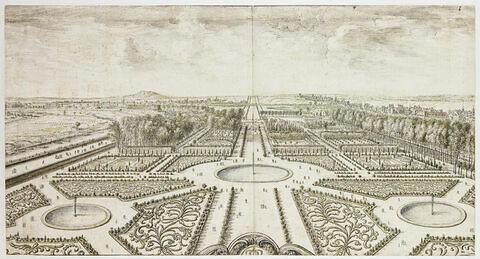 Vue du jardin des Tuileries