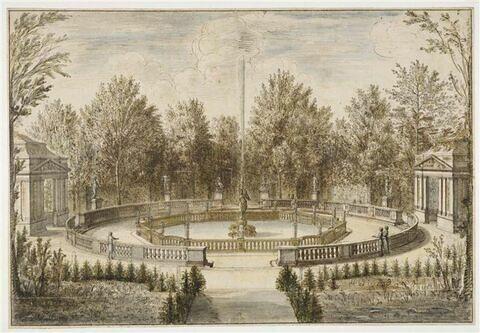 Vue du bosquet de la Renommée dans le parc du château de Versailles