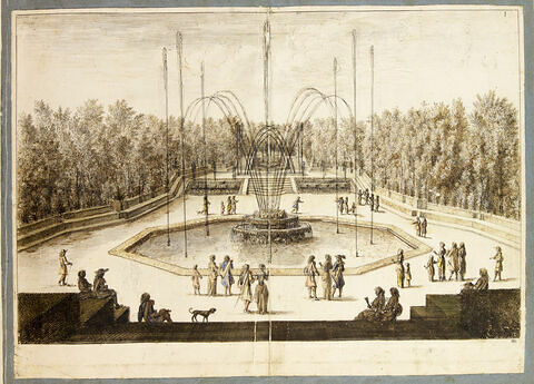 Vue des trois fontaines